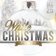 White Christmas Party Flyer Template