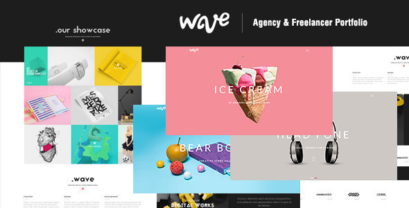 Wave | Agency & Freelancer Portfolio-Muse Template