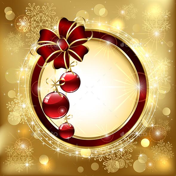 Bow with Christmas Balls