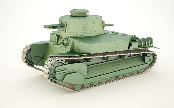 Japanese tank type '89' - 3DOcean Item for Sale