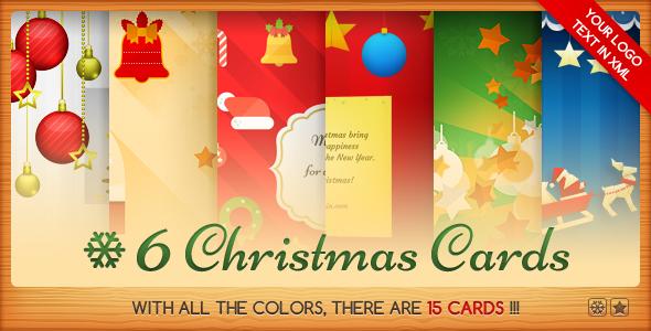 Six Christmas Cards Bundle