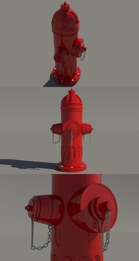 Fire Hydrant - High Poly - 3DOcean Item for Sale