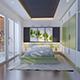 3d model and render of bedroom interior