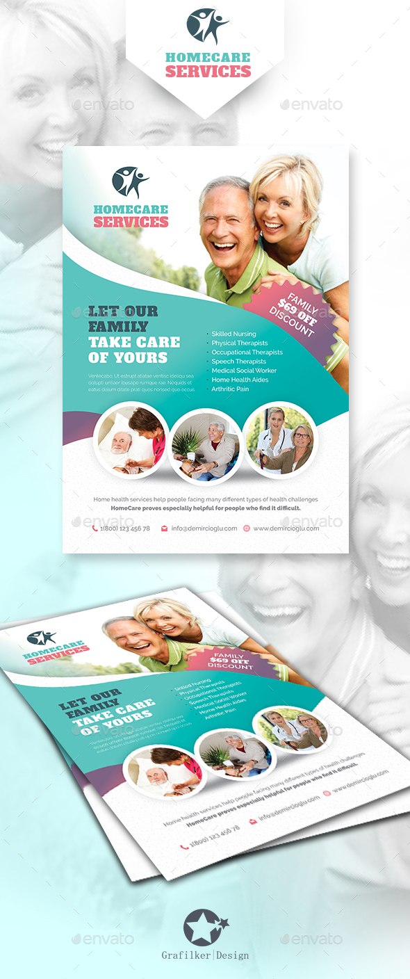 Meal Preparation Graphics Designs Templates From GraphicRiver - Home health care brochure templates