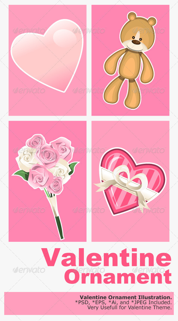 GraphicRiver Valentine Ornaments 1368985