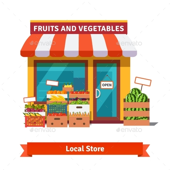 Local Fruit and Vegetables Store Building