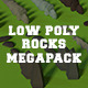 LowPoly Rocks MegaPack Bundle