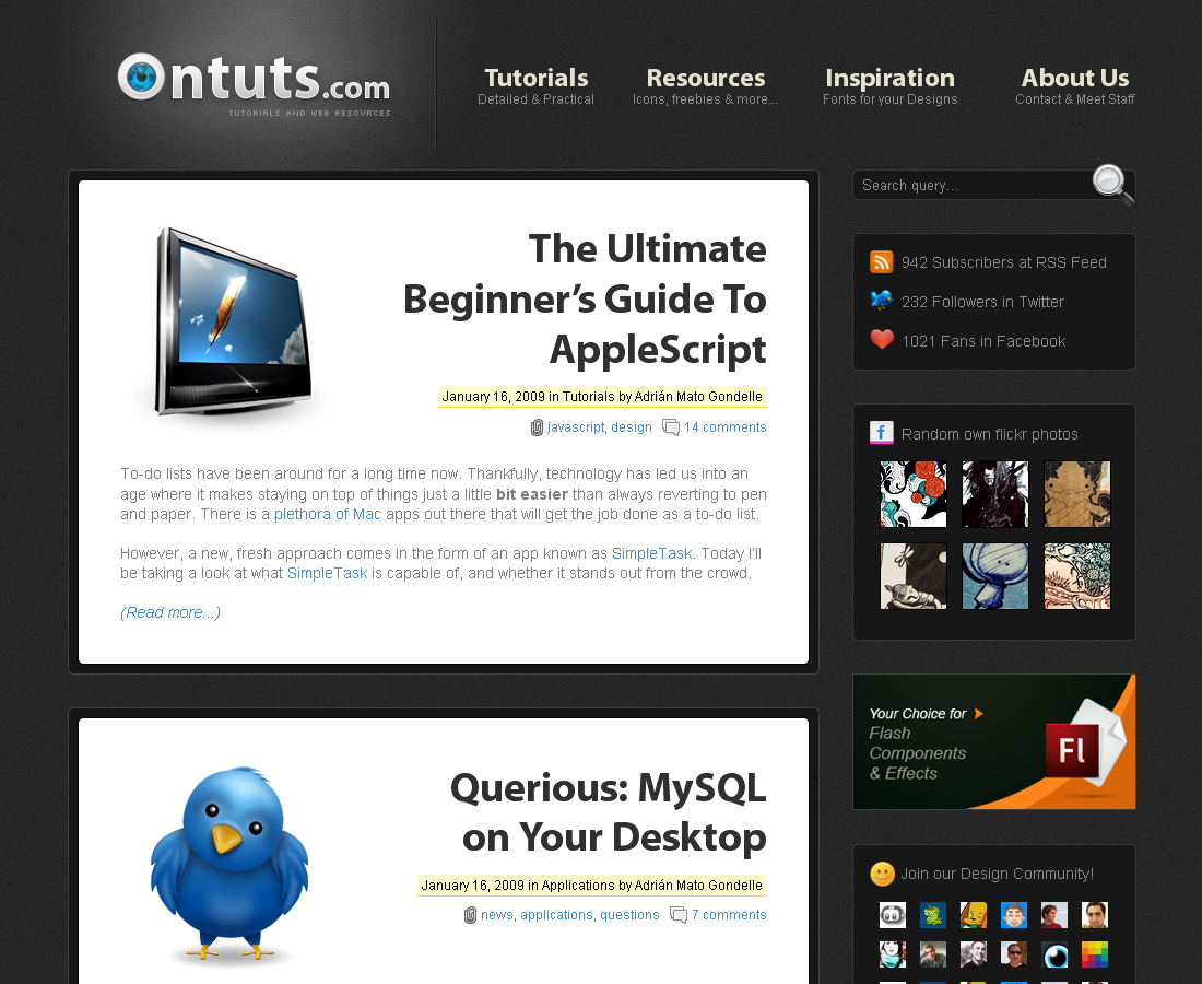 Ontuts - Main page of the site.