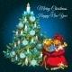 Christmas Tree And Santas Bag With Gifts