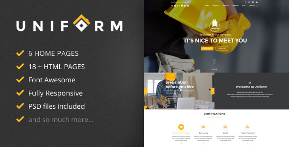 Uniform - Building & Construction HTML Template