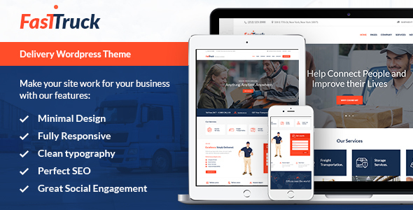 Download Fast Truck - Transportation & Logistics Theme nulled download