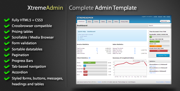 XtremeAdmin - Complete Admin Template - Admin Templates Site Templates