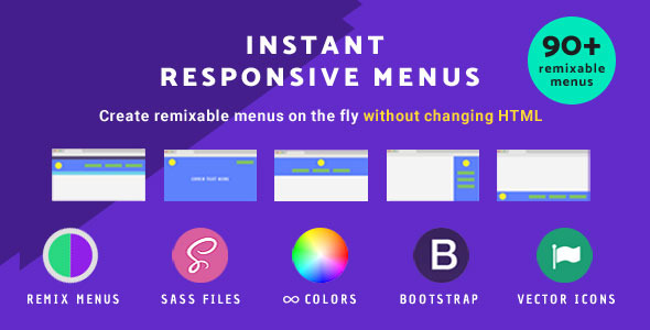 Instant Responsive menus - CodeCanyon Item for Sale