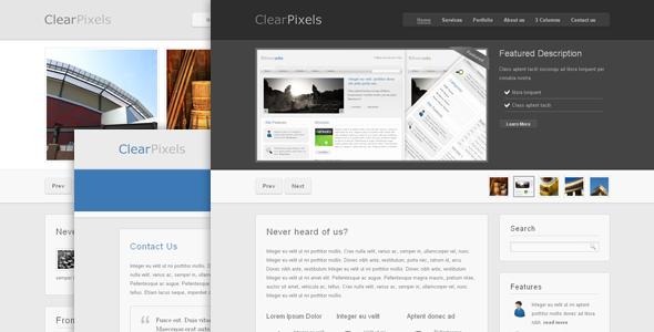 Clear Pixels - Premium Theme