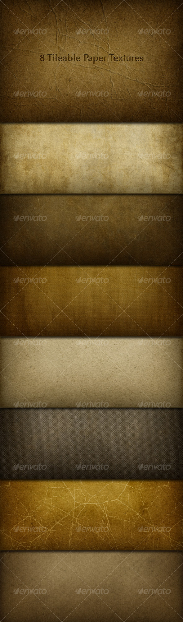 8 Tileable Paper Texture Photoshop Patterns - Miscellaneous Textures / Fills / Patterns
