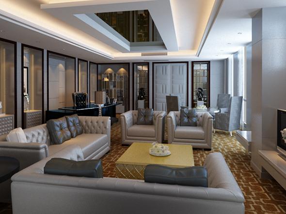 Reception room - 3DOcean Item for Sale