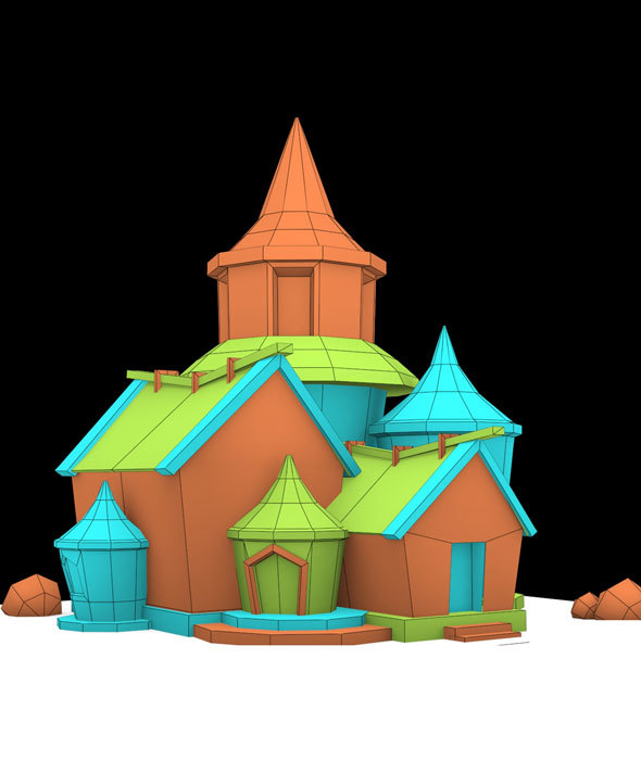 Cartoon House 1 model - 3DOcean Item for Sale