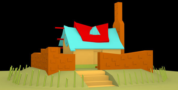 Low Poly House Model - 3DOcean Item for Sale