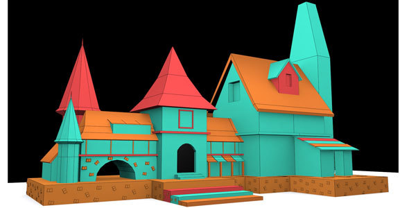 Cartoon Duplex Model - 3DOcean Item for Sale