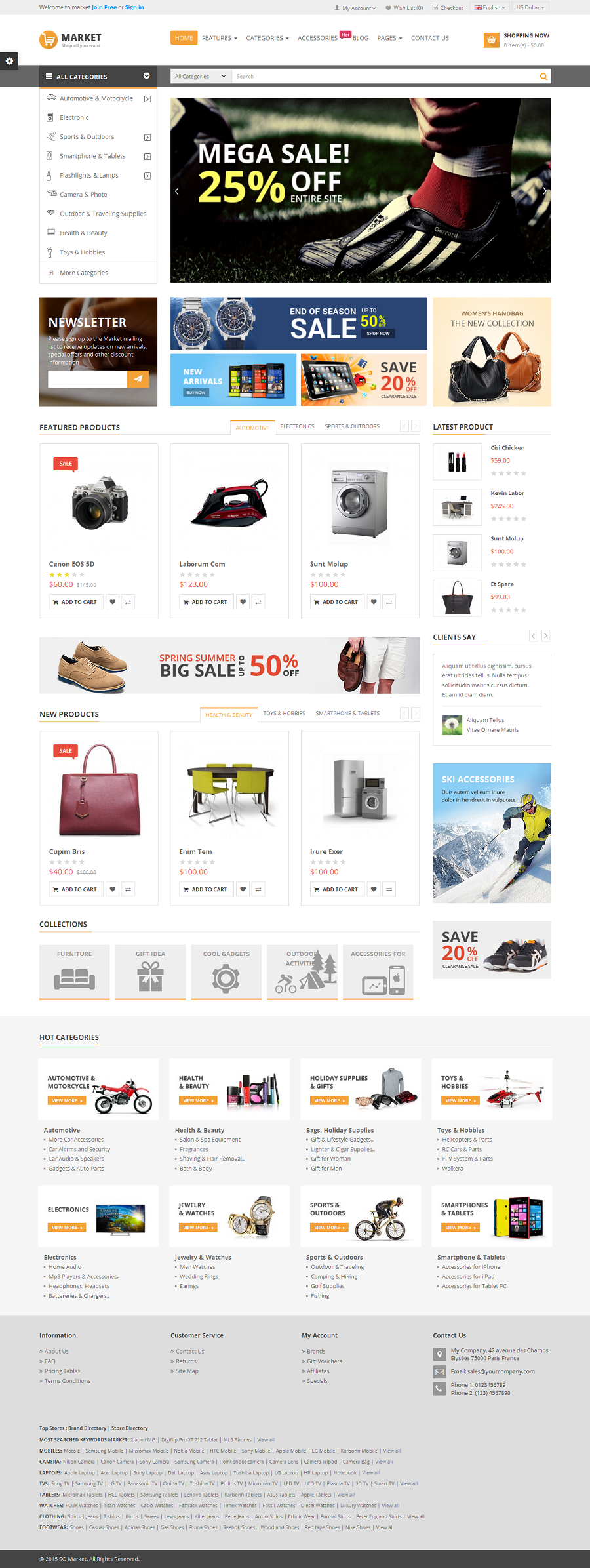 Market Responsive Multipurpose Opencart Theme By