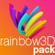 Ranibow 3D renders pack. - GraphicRiver Item for Sale