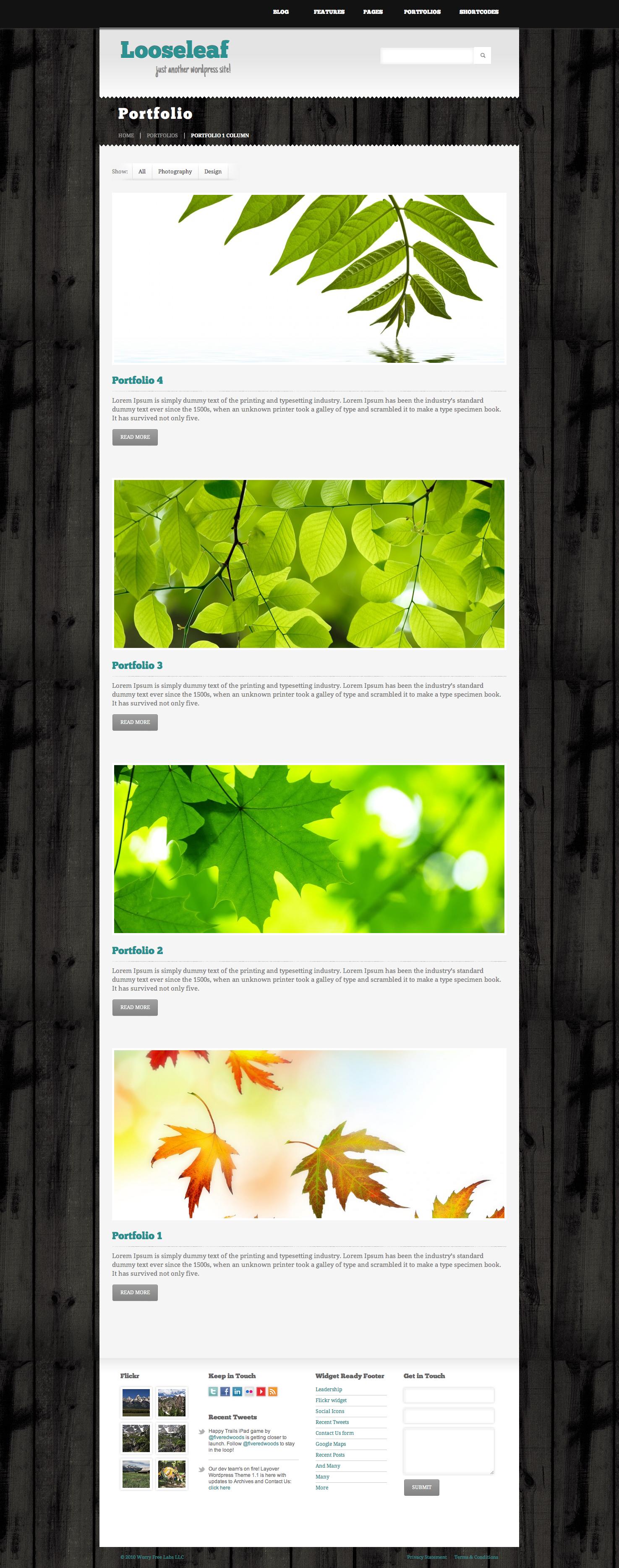 Looseleaf Wordpress Theme
