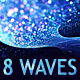 6 HD Abstract bokeh waves backgrounds