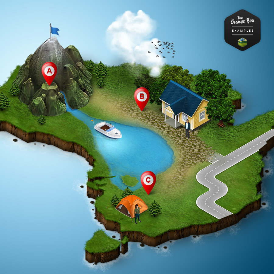 3d map generator 2 isometric by orange box graphicriver for 3d layout maker