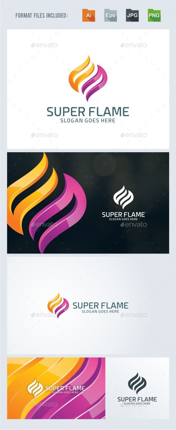 Super Flame Logo Template