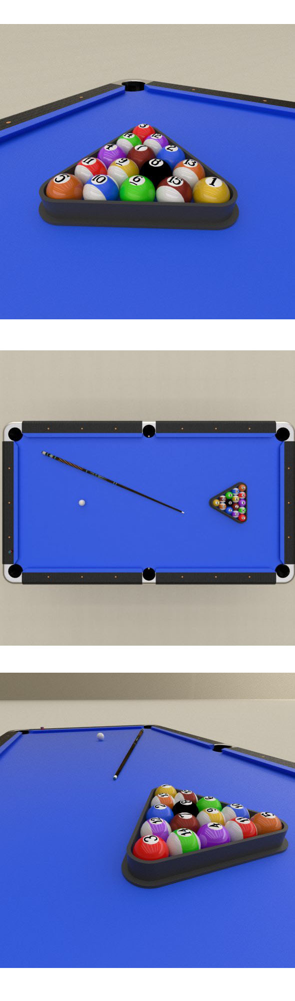 Billard balls set - 3DOcean Item for Sale