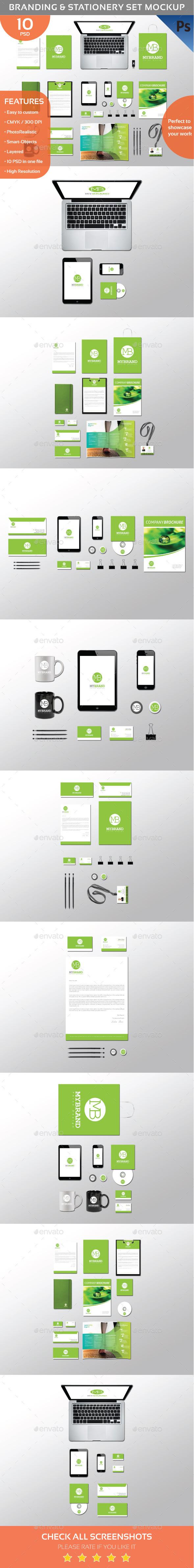 Branding & Identity Mockup Set (Stationery)