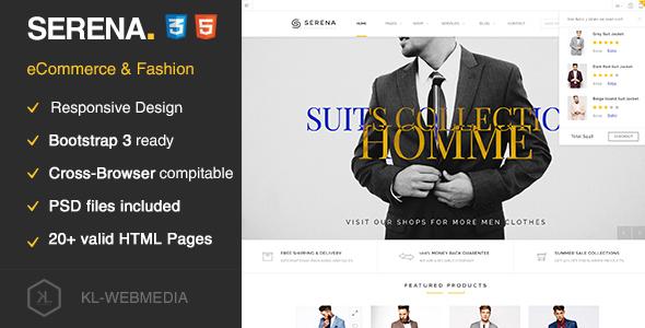 Serena - eCommerce Fashion Template HTML5