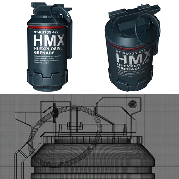 Grenade from Elysium movie - 3DOcean Item for Sale