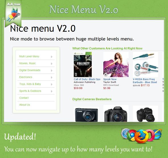 CodeCanyon Nice Menu V1.0 135661