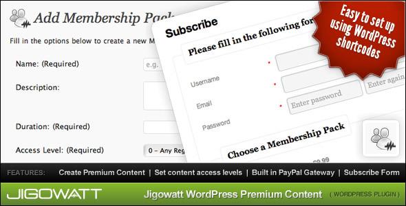 WordPress Premium Content - WordPress Membership Plugin