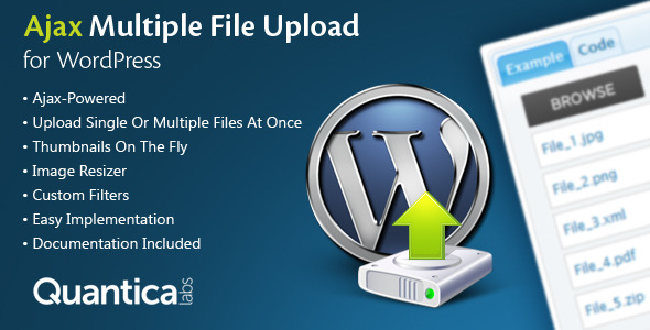 CodeCanyon Ajax Multi Upload for WordPress 144658