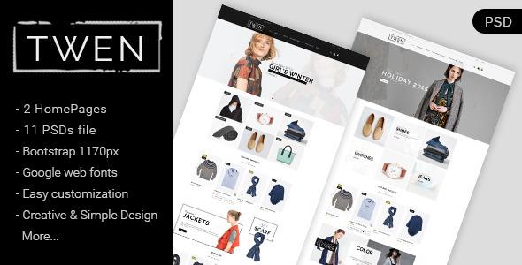 Twen – Ecommerce Fashion PSD Template (Fashion) images