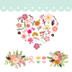 Love Floral Wedding Element