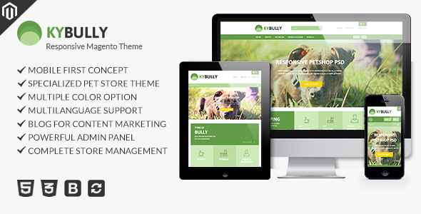 Download Kybully - Petstore Theme for Magento nulled download