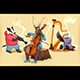 Musician Cartoon Animals