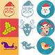 Christmas Colourful, popart and one colour iconset