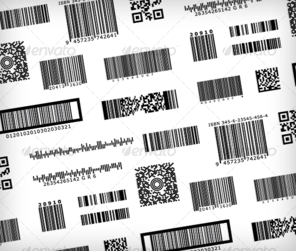 GraphicRiver Barcode Samples Bar code symbols 54431