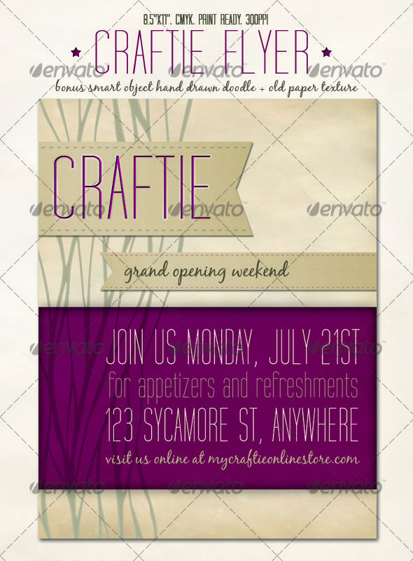 Craftie Flyer - Miscellaneous Events