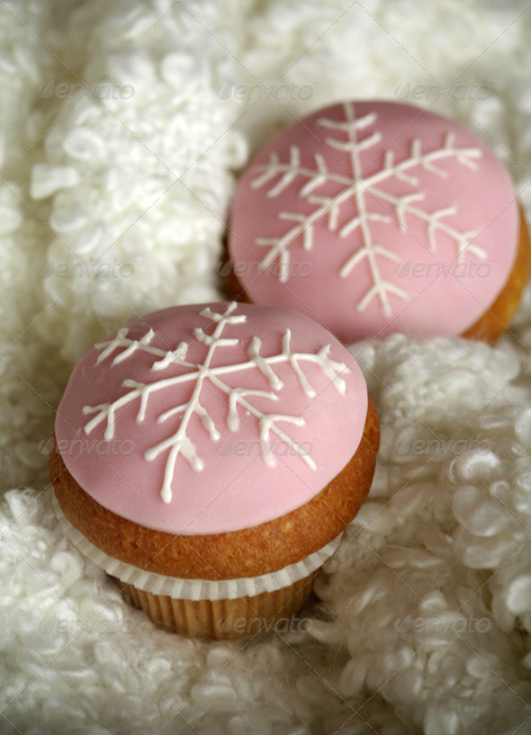 Winter cupcakes - Stock Photo - Images