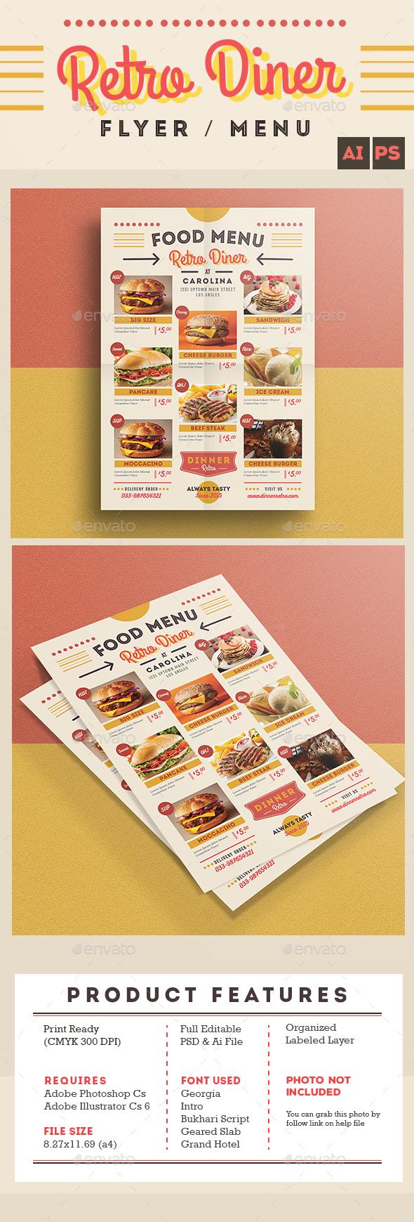 Retro Diner Flyer/Menu