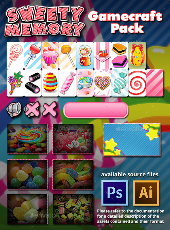 Sweety Memory Game Assets (Game Assets)