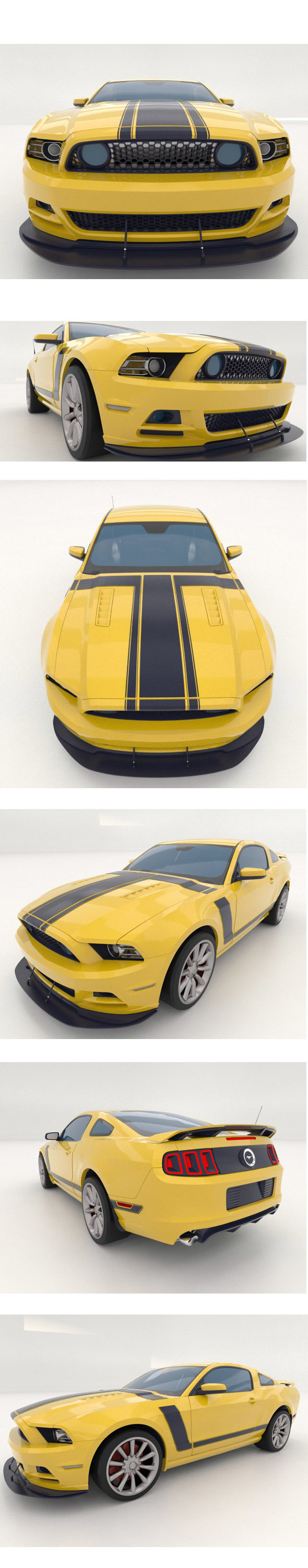 Ford Mustang - 3DOcean Item for Sale