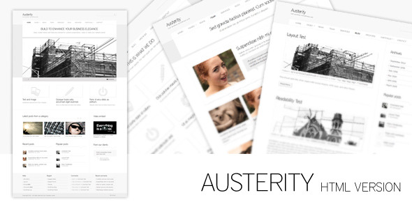 Austerity - HTML Version - Creative Site Templates