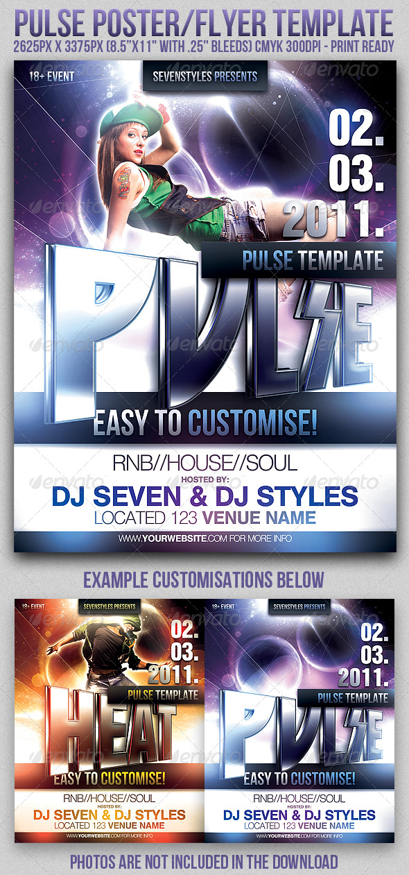 GraphicRiver Pulse Poster Flyer Template 163927