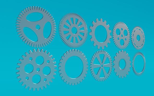 Gears 4 - 3DOcean Item for Sale